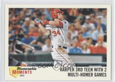2013 Topps Heritage Memorable Moments #MM-BH - Bryce Harper