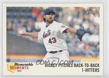 2013 Topps Heritage Memorable Moments #MM-RA - R.A. Dickey