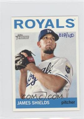 2013 Topps Heritage Mini #483 - James Shields /100