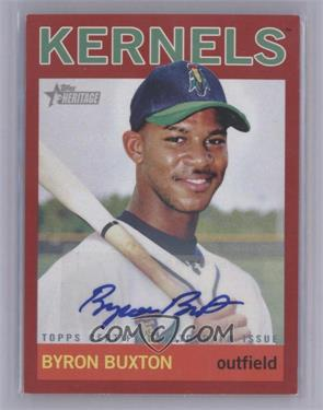 2013 Topps Heritage Minor League Edition - Real One Autographs - Red #ROA-BBU - Byron Buxton /10 [NearMint‑Mint]