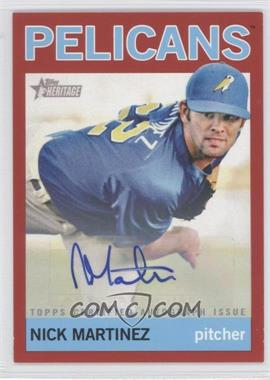2013 Topps Heritage Minor League Edition - Real One Autographs - Red #ROA-NM - Nick Martinez /10