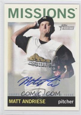 2013 Topps Heritage Minor League Edition - Real One Autographs #ROA-MA - Matt Andriese
