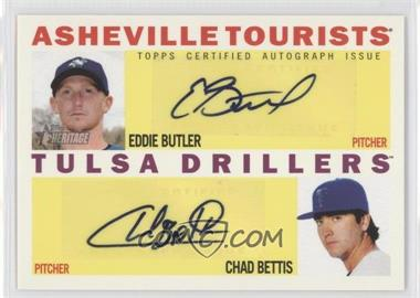 2013 Topps Heritage Minor League Edition - Real One Dual Autographs #RODA-BB - Eddie Butler, Chad Bettis /15