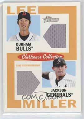 2013 Topps Heritage Minor League Edition Clubhouse Collection Dual Relics #CCDR-LM - Hak-Ju Lee, Brad Miller /25