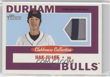 2013 Topps Heritage Minor League Edition Clubhouse Collection Patch Relics #CCR-HJL - Hak-Ju Lee /15
