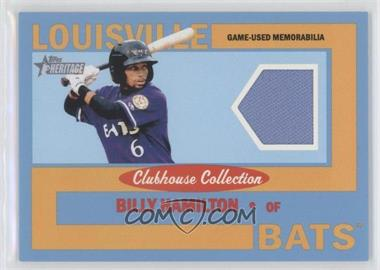 2013 Topps Heritage Minor League Edition Clubhouse Collection Relics Blue #CCR-BH - Billy Hamilton /1