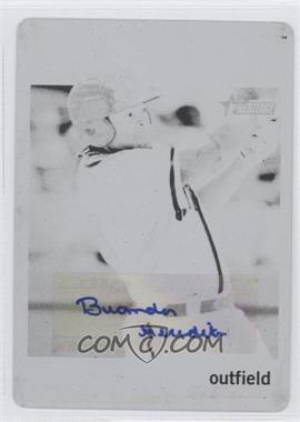 2013 Topps Heritage Minor League Edition Real One Autographs Printing Plate Black #ROA-BM - Brandon Meredith /1