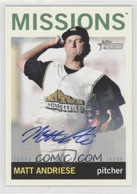 2013 Topps Heritage Minor League Edition Real One Autographs #ROA-MA - Matt Andriese