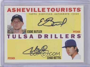 2013 Topps Heritage Minor League Edition Real One Dual Autographs #RODA-BB - Eddie Butler, Chad Bettis /15