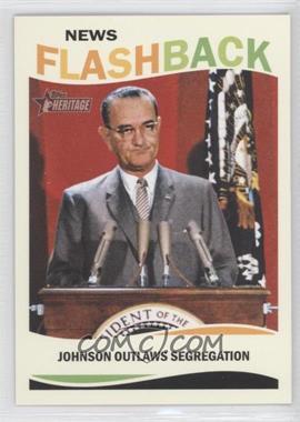 2013 Topps Heritage News Flashback #NF-CRA - Lyndon B. Johnson