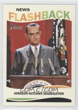 2013 Topps Heritage News Flashback #NF-CRA - Lyndon B. Johnson