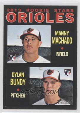 2013 Topps Heritage Retail Black #201 - Manny Machado, Dylan Bundy