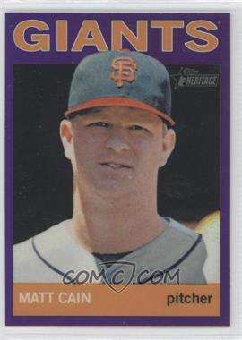 2013 Topps Heritage Retail Chrome Purple Refractors #HC18 - Matt Cain
