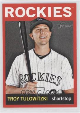2013 Topps Heritage Retail Red #452 - Troy Tulowitzki