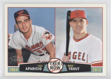 2013 Topps Heritage Then and Now #TN-AT - Luis Aparicio, Mike Trout