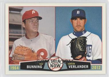 2013 Topps Heritage Then and Now #TN-BV - Jim Bunning, Justin Verlander