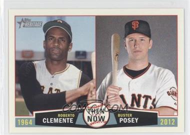 2013 Topps Heritage Then and Now #TN-CP - Roberto Clemente, Buster Posey