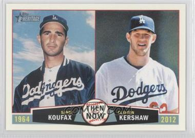 2013 Topps Heritage Then and Now #TN-KK - Sandy Koufax, Clayton Kershaw