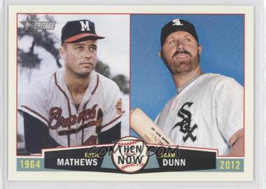 2013 Topps Heritage Then and Now #TN-MD - Edwin Maysonet, Adam Dunn, Edgar Martinez