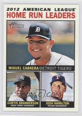 2013 Topps Heritage #10 - 2012 American League Home Run Leaders (Miguel Cabrera, Curtis Granderson, Josh Hamilton)