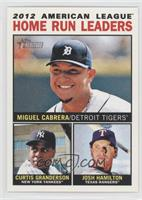 2012 American League Home Run Leaders (Miguel Cabrera, Curtis Granderson, Josh …