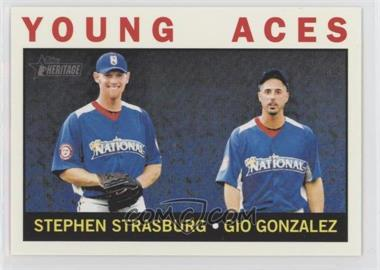 2013 Topps Heritage #219 - Young Aces (Stephen Strasburg, Gio Gonzalez)