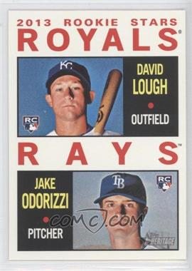 2013 Topps Heritage #408 - 2013 Rookie Stars (David Lough, Jake Odorizzi)
