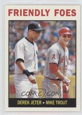 2013 Topps Heritage #41 - Friendly Foes (Derek Jeter, Mike Trout)