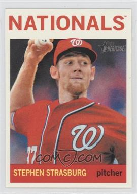 2013 Topps Heritage #480.2 - Stephen Strasburg (Action Photo)