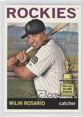 2013 Topps Heritage #488 - Wilin Rosario