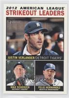 2012 American League Strikeout Leaders (Justin Verlander, Max Scherzer, Felix H…