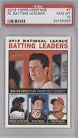 2012 National League Batting Leaders (Buster Posey, Andrew McCutchen, Ryan Brau…