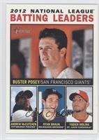 2012 National League Batting Leaders (Buster Posey, Andrew McCutchen, Ryan Brau…