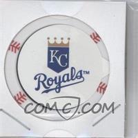 2013 Topps MLB Chipz Silver Team Logo Sticker #N/A - Eric Hosmer