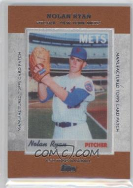 2013 Topps Manufactured Card Patch #MCP-14 - Nolan Ryan