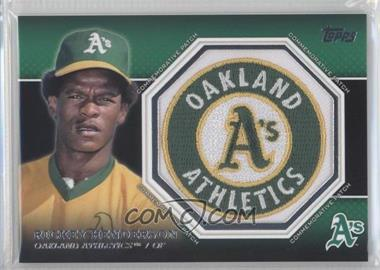 2013 Topps Manufactured Commemorative Patch #CP-34 - Rickey Henderson