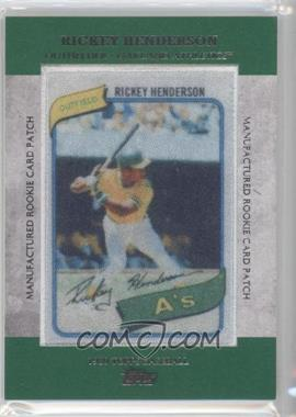 2013 Topps Manufactured Rookie Card Patch #RCP-12 - Rickey Henderson