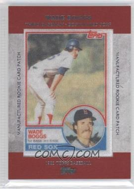 2013 Topps Manufactured Rookie Card Patch #RCP-15 - Wade Boggs