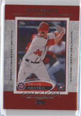 2013 Topps Manufactured Rookie Card Patch #RCP-24 - Bryce Harper
