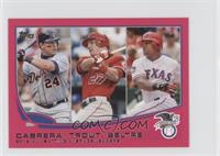 2012 AL Batting Average Leaders (Miguel Cabrera, Mike Trout, Adrian Beltre) /25