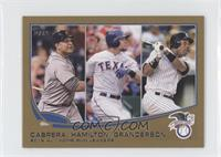 2012 AL Home Run Leaders (Miguel Cabrera, Josh Hamilton, Curtis Granderson) /62