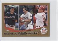 2012 NL Home Run Leaders (Ryan Braun, Giancarlo Stanton, Jay Bruce) /62
