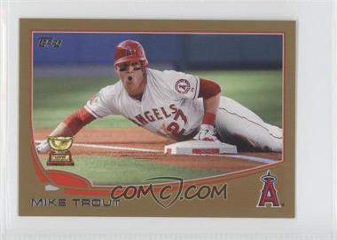 2013 Topps Mini Gold #27 - Mike Trout /62