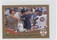 2012 NL Runs Batted In Leaders (Chase Headley, Ryan Braun, Alfonso Soriano) /62