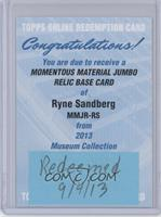 Ryne Sandberg /50 [REDEMPTION Being Redeemed]
