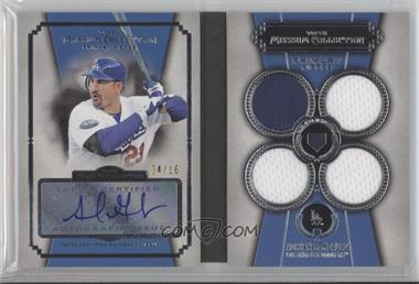 2013 Topps Museum Collection Primary Pieces Quad Relics Autographs #PPAR-AG - Adrian Gonzalez /10