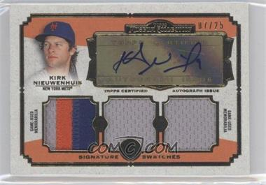 2013 Topps Museum Collection Signature Swatches Triple Relics Autographs Gold #SSATR-KN - Kirk Nieuwenhuis /25