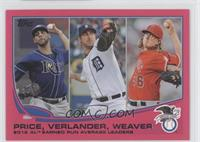 AL Earned Run Average Leaders (David Price, Justin Verlander, Jered Weaver) /50