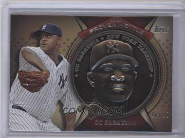 2013 Topps Proven Mettle Commemorative Coins Steel #PMC-CS - CC Sabathia /10