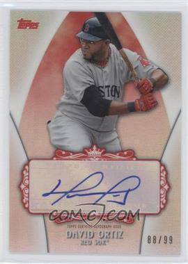 2013 Topps Replacement Autographs Red #DAOR - David Ortiz /99